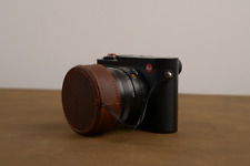 Handmade Red Brown Leather Camera Lens Cap Cover Case Bag for Leica Q Typ116