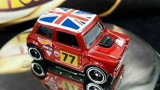 Hot Wheels Morris Mini Cooper  / Red British Proud Flag Top Racing Nice