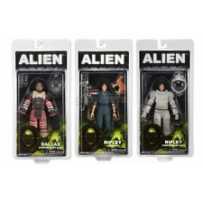 Alien set 3 Action Figures Aliens Sigourney Weaver 2 Ellen Ripley + Dallas NECA
