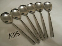 VINERS EXECUTIVE SUITE DESSERT SPOONS VINTAGE CUTLERY SET OF 6