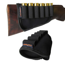Tourbon Gun Stock Cartridges Holder Ammo Carrier Cover Shotgun 12 Gauge Neoprene