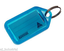 KEVRON CLICK KEY TAGS - BLUE - BULK PACK x 50 - PLASTIC LABELS - HOME OFFICE