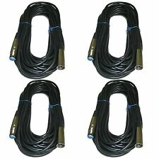 4 PACK 50ft xlr male to female 3pin MIC Shielded Cable microphone audio cord Lot