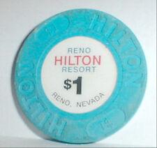$1 Chip RENO Hilton Resort Casino Nevada 1992-1996  info+Casino History