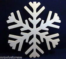 40 POLYSTYRENE CHRISTMAS WHITE SNOWFLAKE-HD 360MM HEIGHT 10MM THICK DECORATIONS
