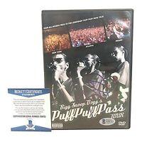 Snoop Dogg Signed Puff Puff Pass Tour DVD Cover Rap Beckett BAS Cert Autograph