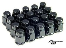20 Pc 7/16 EARLY CHEVY BLACK ACORN SOLID LUG NUTS # AP-1902BK