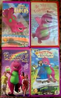 Barney VHS Lot Of 4 Clamshell (Great Adventure, Singing Circus, Valentine, +)