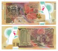 TRINIDAD & TOBAGO UNC $50 Dollars (2014) P-54 Commemorative POLYMER Banknote CB