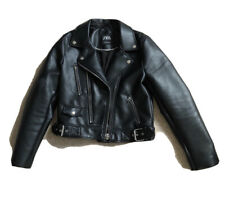Zara Outwear Womens Faux Leather Jacket Size M