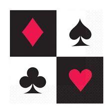 16pk Casino Luncheon Napkins 33cm Birthday Event Vegas Party Tableware