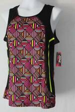 NEW Womens Silky Tank Top Large Work Out Active Wear Gym Run Geometric