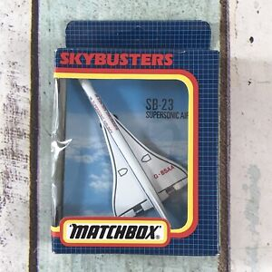 """MATCHBOX """" SKY BUSTERS"""" MODEL No.SB 23 CONCORDE """"SUPER SONIC """"AIRLINES"""