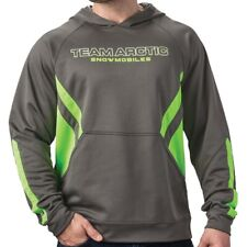 Arctic Cat Men's Team Sport Stripe Relaxed Fit Hoodie - Gray & Green - 5283-12_