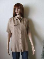 Bonita Damen Jacke- Bluse Gr.M beige 1/2 Arm Leinenanteil