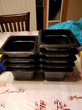 Set Of 9 Cambro En 631 1 Black 13 Size X 4 Food Pan Containers