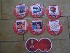 7 Coca Cola Bierdeckel Sous Bock Coaster Papuntersetzer - Belgien Trivia 1