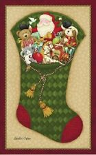 Père Noël Ici Jersey Volet Noël/Noël-Nancy Halvorsen Benartex Tissu Coton