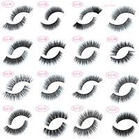 LASGOOS 100% Real Mink Soft Long Natural Thick Makeup Eye Lashes False Eyelashes
