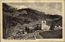 Alte und neue Hofer Kapelle in Passeier Südtirol Italien s/w ~1910 Panorama Berg