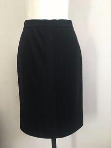 CHANEL Wool Knit Skirt Lined Black fit UK 12 FR 42