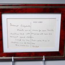 "HANDWRITTEN NOTE FROM LORD ""DICKIE"" MOUNTBATTEN TO QUEEN ELIZABETH,1976 FRAMED"