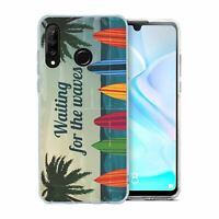 For Huawei P30 LITE Silicone Case Waves Surfing - S575