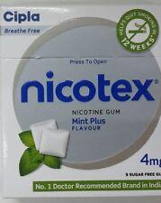 10x NICOTEX sugar free Chewing Gum 4mg -( 90 Gums) -FreshMint Flavour -Free Ship