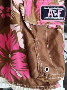 Abercrombie & Fitch Tugger mens hawaiian bermunda swimming shorts W38 excellent