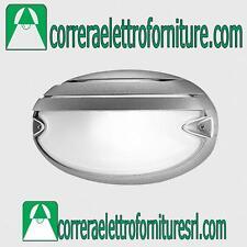 Plafoniera vetro parete esterno PRISMA CHIP OVALE 25 GRILL grigio E27 005708