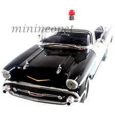 ERTL 29184P 1957 CHEVY BEL AIR HARD TOP 1/18 UNMARKED POLICE CAR BLACK WHITE