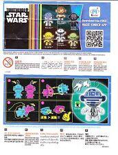 Beipackzettelvariante R2-D2 TR201 Star Wars Twistheads Mega Selten