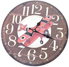 Cute VINTAGE elica aereo 50s Clock Orologio da parete Rockabilly