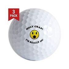 Holy Crap 30th Birthday Golf Balls Logo
