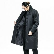 Winter Mens Cotton Padded Jacket Overcoat Chinese Style Retro Kungfu Quilted