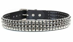 Bullet New Gothic Biker Punk Pyramid Stud Handmade Real Leather UK Chain Belts