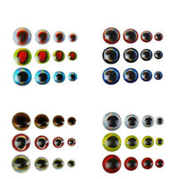 Assorted Fishing Lure Eyes Epoxy 3D Eye Tying Jigs Crafts Doll 3-6mm Multicolour