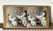 HALLOWEEN PARTY Antique SEPIA UNIVERSAL PHOTO ART CO Victorian Stereoview