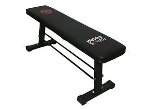 MuscleSquad Fitness Flat Bench Weight Lifting Utility Dumbbell Press Home Gym