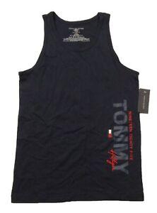 Tommy Hilfiger Sleepwear Men's Navy Cotton Tank Top