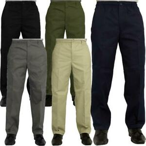 New Mens Elasticated Waist Casual Rugby Trousers L29 & L31