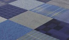 "SHADES OF BLUE COLOR FAMILY 24"" x 24"" CARPET TILES"