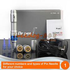 New Dr. Pen ULTIMA A6 Electric Derma Pen Auto Micro Anti-Aging 2 Batteries