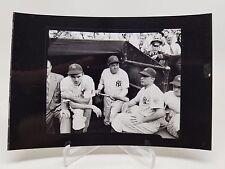 Babe Ruth Vintage 4x6 Photograph Handing Bat 4x6 Rare