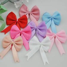 20pcs Satin Ribbon Flower Bows Roses Wedding Decorations Appliques Crafts B44