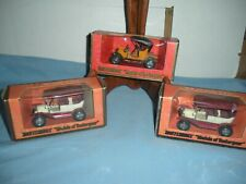 1973 Matchbox Models Of Yesteryear 3 cars New In The Box 1909 Opel Coupe + 2