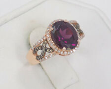 EFFY BH 14K Solid Rose Gold Raspberry Rhodolite Garnet & Diamond Ring ~ Size 5