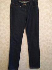 BODEN straight leg dark blue jeans UK 12 Long slight stretch high waisted