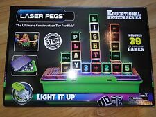 Educational Series Laser Pegs Lighted Building Toy STEM Word Number Letter