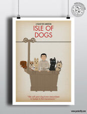 ISLE OF DOGS - Minimalist Movie Poster Minimal Print Wes Anderson Art Posteritty